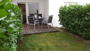Ein Garten an der Unterkunft Gästewohnungen Enztal