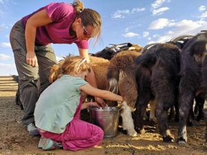 Children staying at Vast Mongolia Tour guesthouse & tours