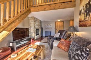A seating area at Steamboat Ski Getaway w/ Balcony + Mtn Views!