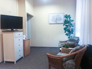 Телевизор и/или развлекательный центр в Hotel Yes