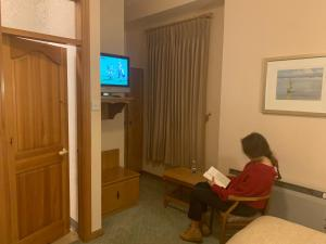 A television and/or entertainment center at Rathbaun Hotel
