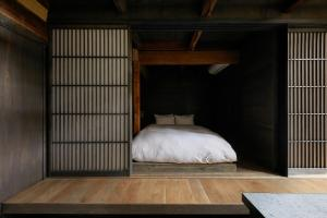 宿ルKYOTO HANARE 障子ノ宿にあるベッド