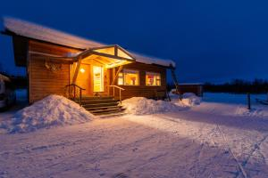 Lake Inari Mobile Cabins during the winter