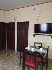 A television and/or entertainment center at Villas Bahia Salinas