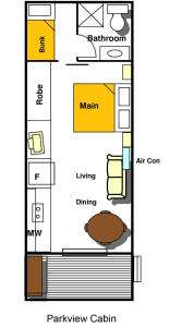 The floor plan of Ingenia Holidays Middle Rock