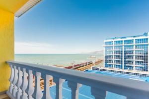 Балкон или терраса в Отель Оазис