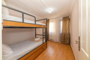 Двухъярусная кровать или двухъярусные кровати в номере Taksim Wooden House Hostel