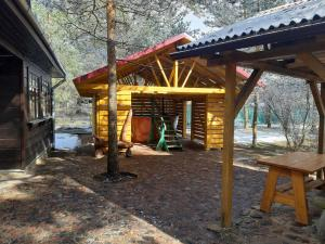 Children's play area at Kempings Videnieki
