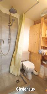 Ein Badezimmer in der Unterkunft Pension an der Elsterbrücke