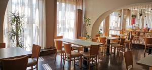 A restaurant or other place to eat at Akcent hotel