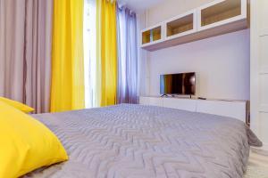 Кровать или кровати в номере Апарт-отель Pulkovo Transit