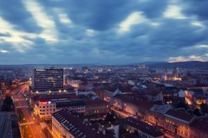 A bird's-eye view of DoubleTree By Hilton Košice