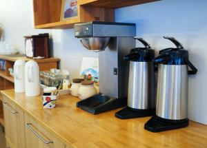Coffee and tea-making facilities at Solheimar Eco-Village Guesthouse