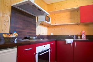 A kitchen or kitchenette at Villages de Gîtes des Châtaigniers du Lac