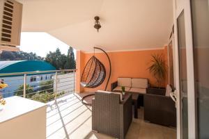A balcony or terrace at Apartments Kovačević
