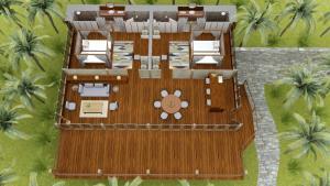 The floor plan of Bawah Reserve