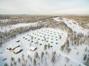 A bird's-eye view of Kakslauttanen Arctic Resort - Igloos and Chalets