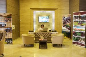 The lobby or reception area at Marxal Resort & Spa
