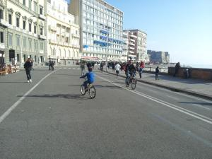 Biking at or in the surroundings of Napoli Sea