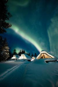Wilderness Hotel Muotka & Igloos during the winter