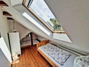 Ein Bett oder Betten in einem Zimmer der Unterkunft Ferienhaus am Horn