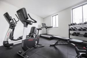 The fitness center and/or fitness facilities at Mantra on Queen
