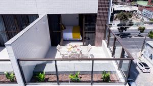 A balcony or terrace at Villa d'Oro Hotel