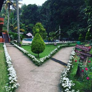 A garden outside Abad Green Forest Thekkady