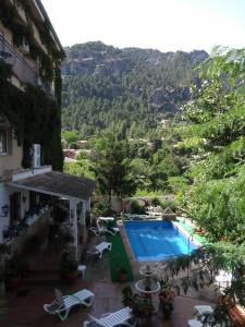 A view of the pool at Hotel San Julian or nearby