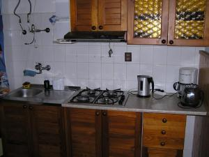 A kitchen or kitchenette at Penzion Mikeš