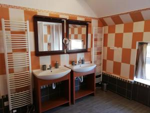 A bathroom at Apartmány Carmen