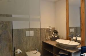 Ein Badezimmer in der Unterkunft Bucherhof