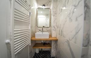A bathroom at AMA