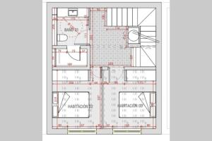 The floor plan of NEW: 4 Bedroom House for 8 guests with big terrace