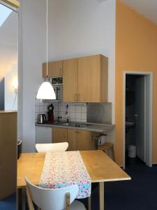 A kitchen or kitchenette at Apartmenthaus Somborn