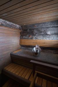 Majoituspaikan Sielikkö Aurora Log Apartments spa- tai muu hoitotila