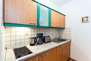Küche/Küchenzeile in der Unterkunft Aparthotels Münzgasse An der Frauenkirche