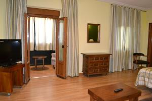 A television and/or entertainment center at Hostal Aribel Longinos