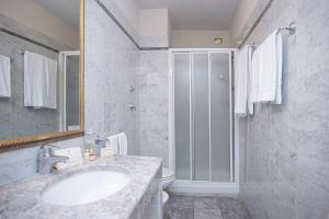 Et badeværelse på Hotel Donatello