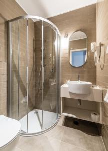 Ванная комната в Hotel Mrak