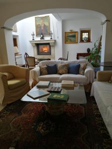 Uma área de estar em Quinta do Rio Touro