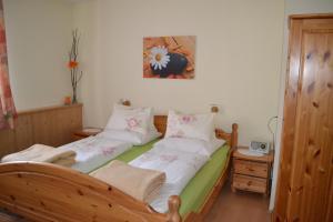 Posteľ alebo postele v izbe v ubytovaní Bio Angererhof