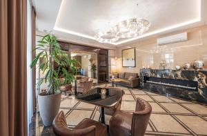 The lobby or reception area at Hotel Ulrika