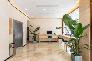 The lobby or reception area at Lan Hotel (Kuanzhai Alley)