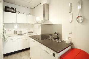 A kitchen or kitchenette at Stunning apartments close to Amstel river
