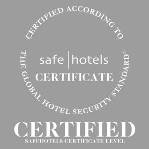 Het logo of bord voor het aparthotel