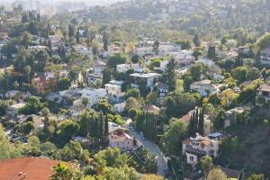 A bird's-eye view of Hollywood Sign Chalet