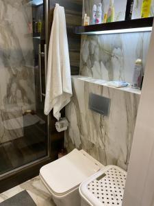 A bathroom at Apollon