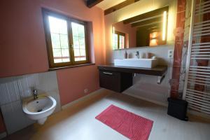 Salle de bains dans l'établissement Gite GEREZIAK