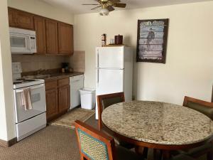 A kitchen or kitchenette at Snowshoe Motel